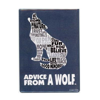 Advice From A Wolf Outline Magnet