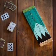 Sanborn Canoe Painted Cribbage Board Gooseberry