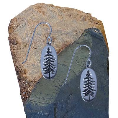 Sterling Silver Tall Spruce Earrings