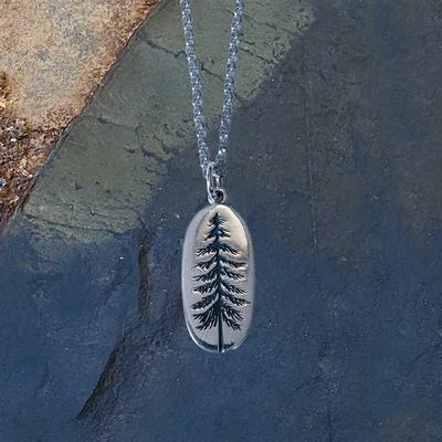 Sterling Silver Tall Spruce Necklace
