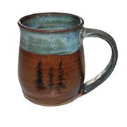 Tree Mug Blue and Brown