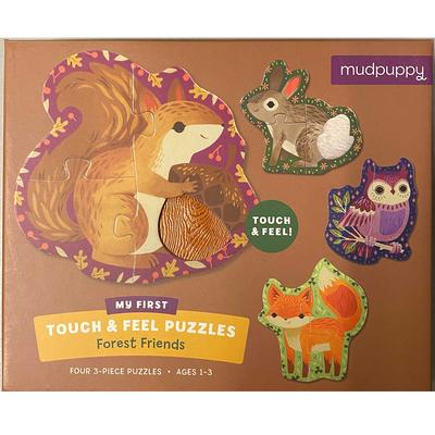 My First Touch And Feel Puzzles Forest Friends