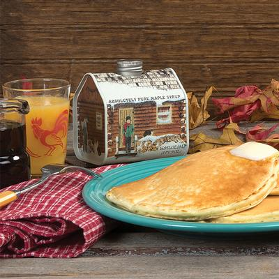 Maple Syrup in Log Cabin Tin