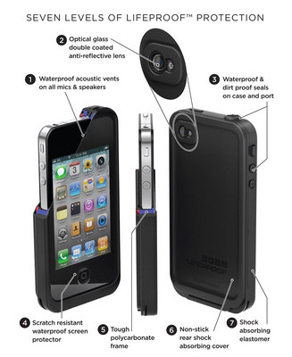 Fre For Iphone 5 Waterproof Case