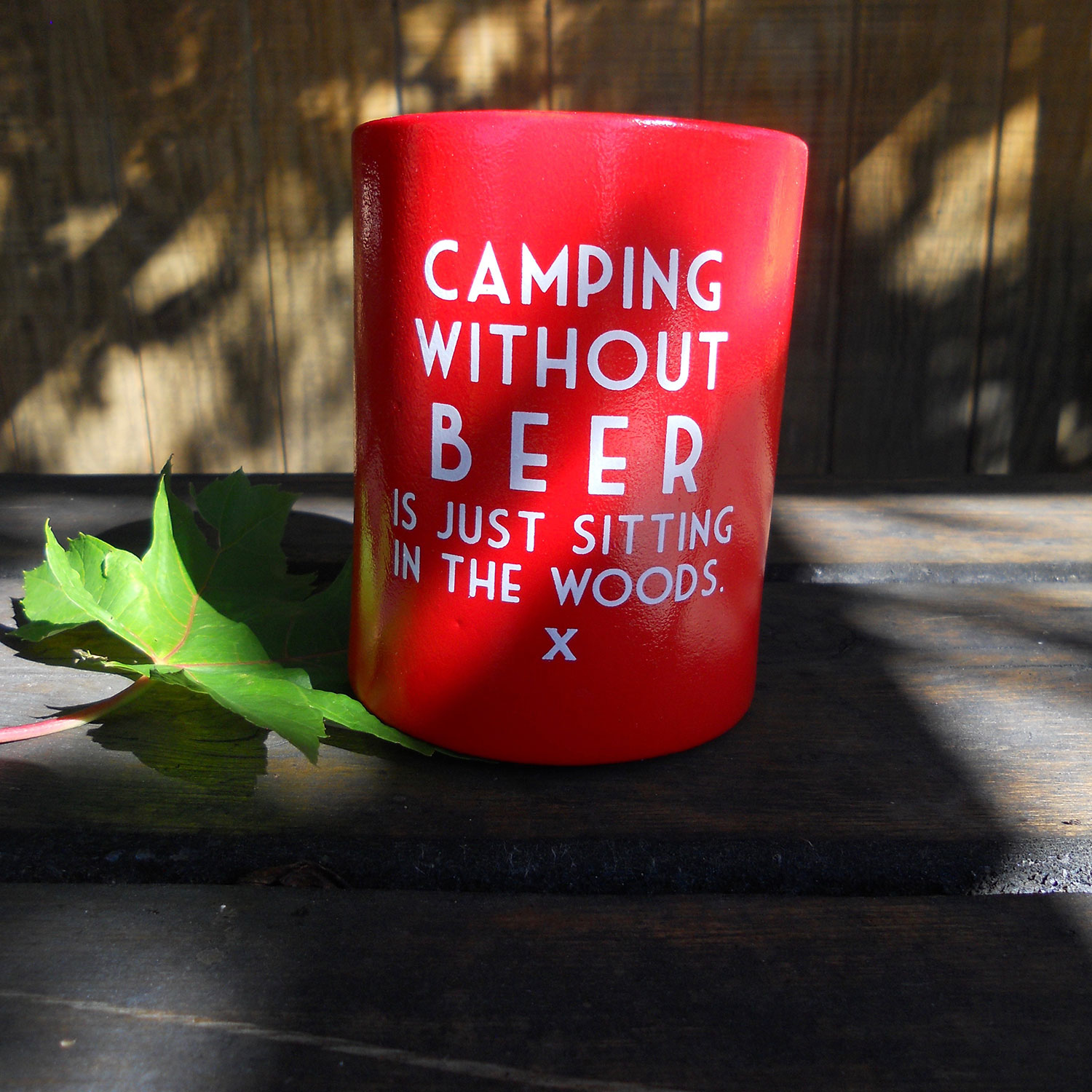 Camping Without Beer Is Just Sitting In The Woods Funny Humorous Tin Metal Sign