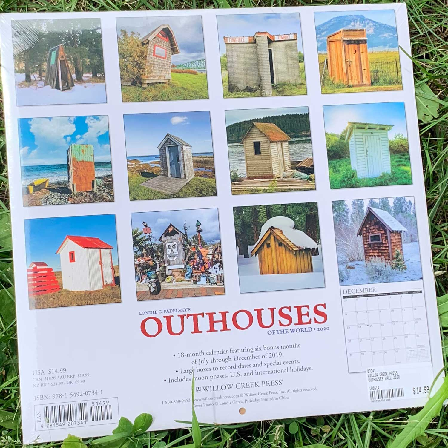 Outhouses Wall 2020 Calendar By Willow Creek Press | Boundary Waters Catalog