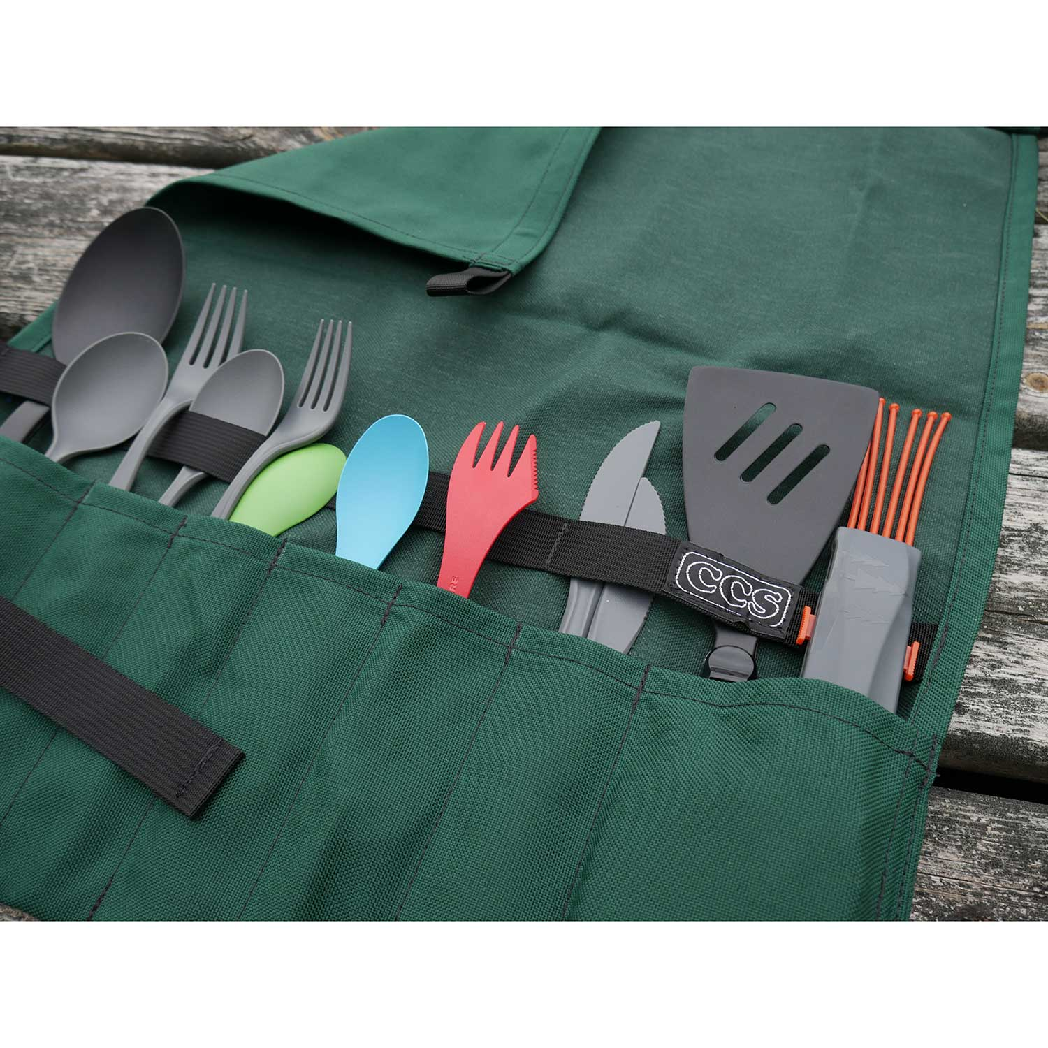 utensil roll up by ccs  camp kitchen organizer